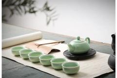 【缘叙坊】青瓷茶具7件套 陶瓷茶壶茶杯组合礼品
