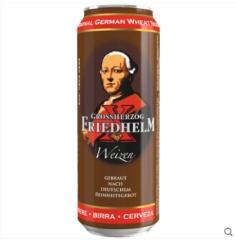 德国原瓶进口 费雷德大公 经典小麦啤酒500ml*6听装