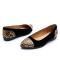 爱柔仕(AEROSOLES)羊皮豹纹铆钉拼接时尚百搭平底女鞋1915301T01
