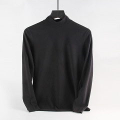 半高领保暖内衣男士加绒德单件上衣中领打底衫长袖T恤秋衣单衣冬