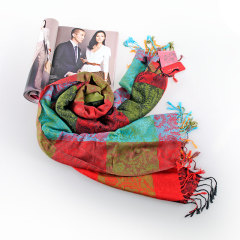 伊法兰妮温暖系彩格围巾 AS04133