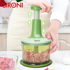 SIRONI按压式手动搅碎机捣蒜泥神器捣碎器家用多功能蔬菜料理器