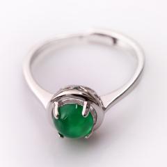 DODOBEL WOMAN情侣女性925银镶嵌玉髓戒指