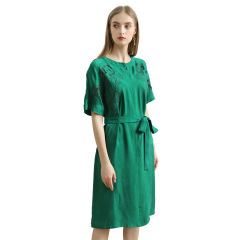 DS氨丝镂空连衣裙