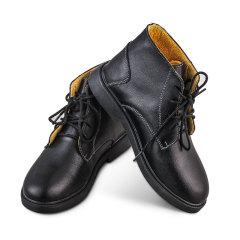 箴美经典牛皮短靴黑色
