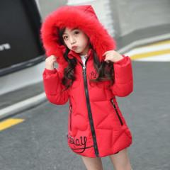 韩版女童羽绒棉服加厚中长款儿童棉袄外套潮款童装拉链外套