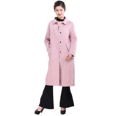 时尚丽人双面呢长款羊毛大衣  货号124153