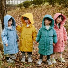 2020新款儿童中长款羽绒服男女童装体院校服过膝加厚羽绒服