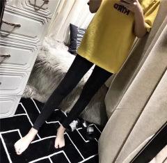 爆款小熊冰丝打底裤2019打底裤女凉凉裤弹力显瘦透气九分裤子