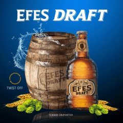 艾菲EFES 土耳其原装进口纯生啤酒 500ml*12瓶 整箱 褐色
