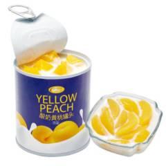 【酸奶西米露水果罐头】信钻 水果罐头6罐装(酸奶黄桃味312g*3罐➕黄桃西米露味312g*3罐)
