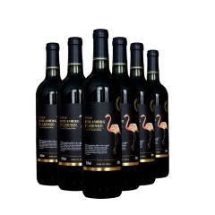 智利进口火烈鸟干红葡萄酒中央山谷产区红酒整箱6支装