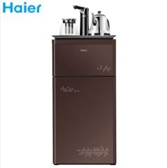 海尔(haier)茶吧机家用多功能智能冷热型饮水机立式自动上水直饮机YD1683-CB 冷热型咖色