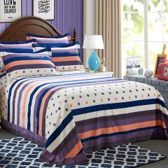 VIPLIFE高端全棉活性印加厚花磨毛纯棉四件套床单被套-时尚爱语