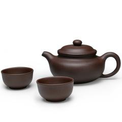 金镶玉 宜兴紫砂壶 仿古壶 原矿紫泥功夫茶具全手工茶壶茶杯