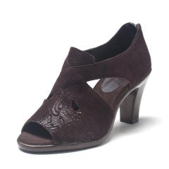 爱柔仕(AEROSOLES)时尚羊皮蕾丝鱼嘴露趾高跟女鞋1915302T03