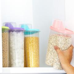 防潮透明带盖五谷食品杂粮储物罐密封储物罐子厨房用品收纳盒