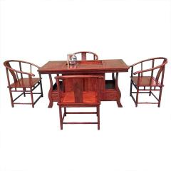 刺猬紫檀红木多用茶台套组