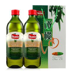 西班牙原装进口欧蕾特级初榨橄榄油1L两瓶礼袋装