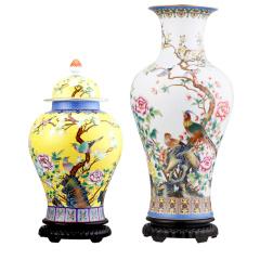 蓝国华珐琅彩珍藏瓷