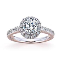罗夏博士幸福圆满莫桑钻2克拉戒指