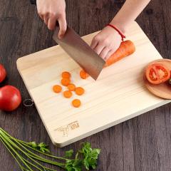 鼎匠防霉菜板整块实木案板厨房切菜板粘板擀面板家用砧板占板刀板