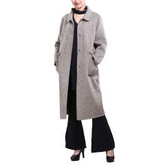 汇融天创气质款女士羊毛大衣