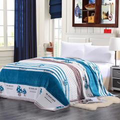VIPLIFE毛毯 加厚法莱绒毯子沙发午睡毯护腿护肚子披肩毯 简约时尚款-时尚生活