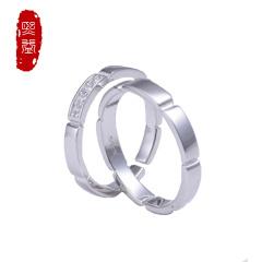 熙益 s925银戒指潮流新款时尚开口情侣对戒两只