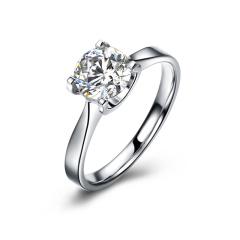 DODOBEL WOMEN 18K金白色经典永恒天然钻石钻戒22分