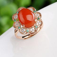 DODOBEL WOMAN 南红玛瑙戒指