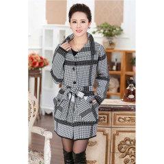 瑅艾女士千鸟格针织羊毛大衣 CBM1689(2色可选)
