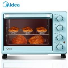 美的 25升容量家用多功能电烤箱机械式操控 上下独立控温专业烘焙易操作烘烤蛋糕面包均匀加热含钛加热管