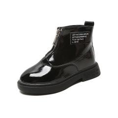 女童短靴2019年秋冬新款儿童单靴漆皮低筒短靴公主马丁靴宝宝鞋