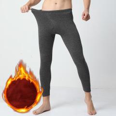 俞兆林保暖裤男秋裤单件加绒加厚紧身青年男士带护膝薄款秋冬季