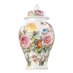 花开富贵手绘将军罐
