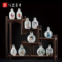 中艺堂收藏品王习三内画十大诗人水晶鼻烟壶特色手工艺品鼻烟瓶