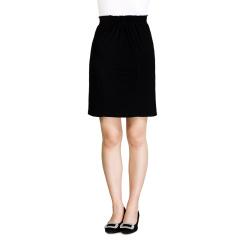 N.L平行绉缝式弹性腰直筒裙